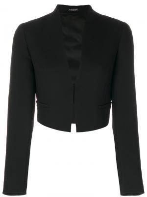 Tailored crop blazer Twin-Set. Цвет: чёрный