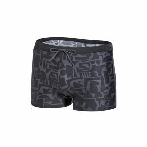 Плавки-боксеры ENDURANCE 10 SPEEDO. Цвет: рисунок черный/серый