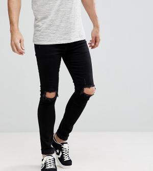 Brooklyn Supply Co. Черные облегающие джинсы с рваной отделкой Co. Цвет: черный