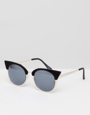 Skinnydip Черные солнцезащитные очки кошачий глаз. Цвет: черный