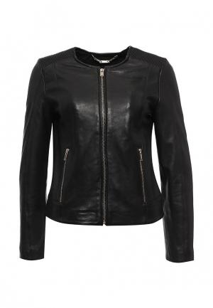 Куртка кожаная Cortefiel. Цвет: черный