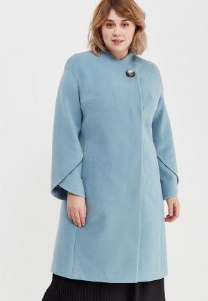 Пальто Grand Madam. Цвет: голубой