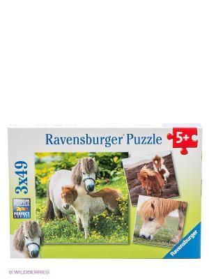 Пазл Очаровательные пони Ravensburger. Цвет: зеленый