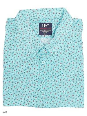 Рубашка IFC. Цвет: синий, светло-зеленый, темно-красный