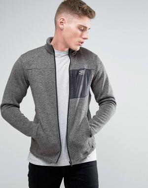 Jack & Jones Удлиненная меланжевая спортивная куртка с воротником-стойкой Jo. Цвет: серый