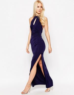 Sistaglam Платье макси Zena. Цвет: темно-синий