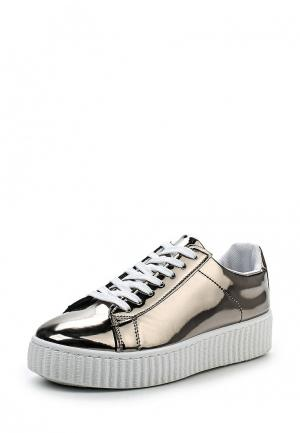 Кеды WS Shoes. Цвет: серебряный