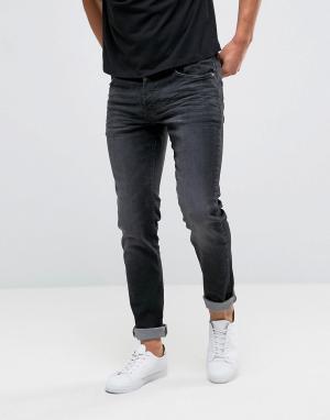 Firetrap Черные облегающие джинсы. Цвет: черный