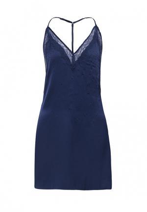 Сорочка ночная womensecret women'secret. Цвет: синий