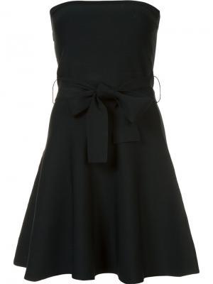 Платье мини без бретелек C/Meo. Цвет: синий
