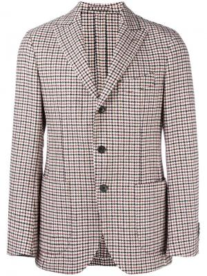 Пиджак в клетку с заостренными лацканами Gabriele Pasini. Цвет: многоцветный
