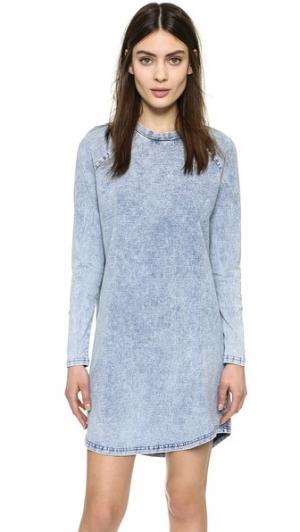 Платье Beat с длинными рукавами The Fifth Label. Цвет: голубой