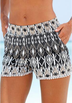 Пляжные шорты Lascana. Цвет: черный