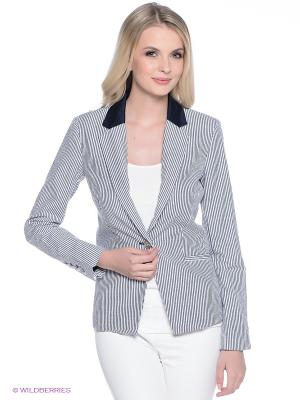 Пиджак Oodji. Цвет: белый, темно-серый