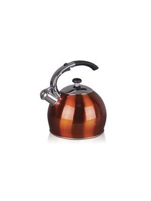 Чайник 2,7л со свистком Green Top. Цвет: коричневый