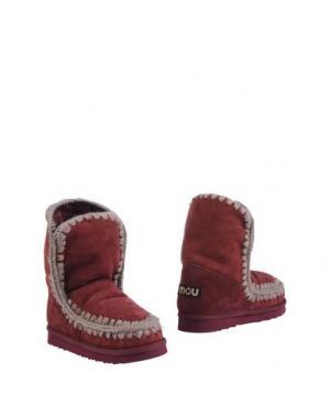 Полусапоги и высокие ботинки MOU. Цвет: пурпурный