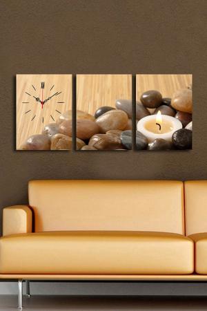 Декоративные настенные часы. Clock art. Цвет: бежевый