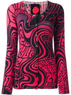 Кардиган с волнистым принтом Ultràchic. Цвет: розовый и фиолетовый