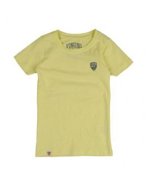 Футболка VINGINO. Цвет: желтый