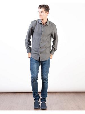 Рубашка INCITY. Цвет: серый, черный