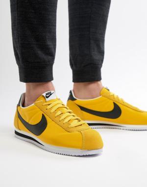 Nike Желтые нейлоновые кроссовки Classic Cortez 807472-701. Цвет: желтый