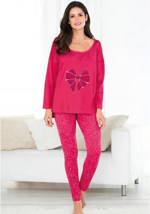 Пижама с брюками Venca. Цвет: розовый (ярко-розовый)
