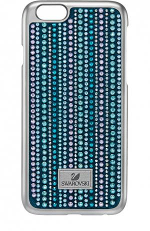 Чехол Betty Deluxe для iPhone 6/6S Swarovski. Цвет: голубой