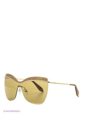 Солнцезащитные очки BLD 1618 101 Baldinini. Цвет: золотистый, коричневый