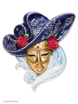 Венецианская маска Розы Veronese. Цвет: темно-синий, голубой, золотистый, красный