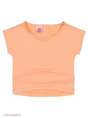 Футболка YG W F TEE Adidas. Цвет: светло-оранжевый