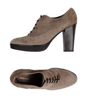 Обувь на шнурках ANGELA GEORGE. Цвет: хаки