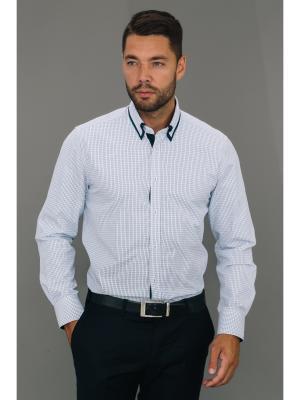 Рубашка John Jeniford. Цвет: синий, белый