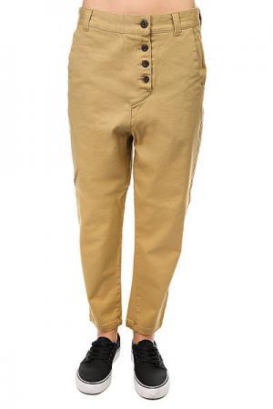 Штаны прямые женские  Overlap Pant Camel Colour Wear. Цвет: бежевый