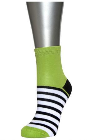 Носки женские ASKOMI. Цвет: зеленый