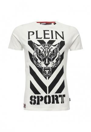 Футболка Plein Sport. Цвет: белый