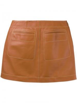 Мини-юбка Loewe. Цвет: коричневый