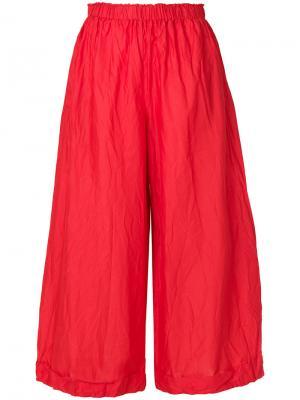 Укороченные широкие брюки Daniela Gregis. Цвет: красный