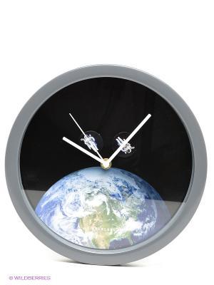 Часы Kikkerland. Цвет: черный