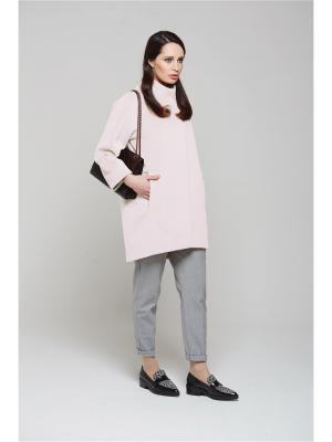 Пальто KLARIS. Цвет: бледно-розовый