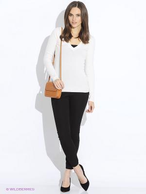 Пуловер Oodji. Цвет: кремовый