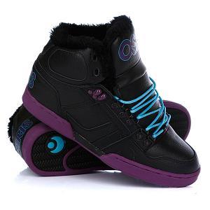 Кеды кроссовки утепленные  Nyc 83 Shr Black/Purple/Teal Osiris. Цвет: черный