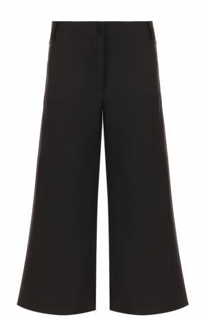 Укороченные расклешенные брюки Valentino. Цвет: черный