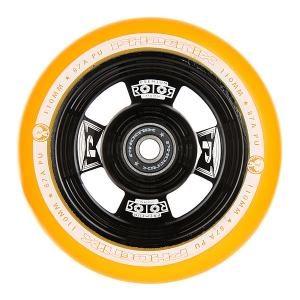 Колесо для самоката  Rotor Core Wheel 110mm With Abec 9 Bearings Gold/Black Phoenix. Цвет: оранжевый,черный
