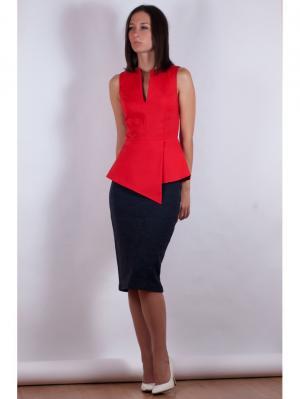 Блузка VERDEREVSKAYA. Цвет: красный