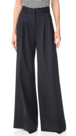 Широкие брюки Milly. Цвет: темно-синий