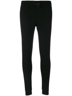 Трикотажные брюки в рубчик Moncler. Цвет: чёрный