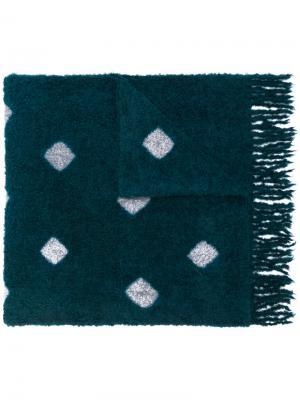 Платок с узором Suzusan. Цвет: синий