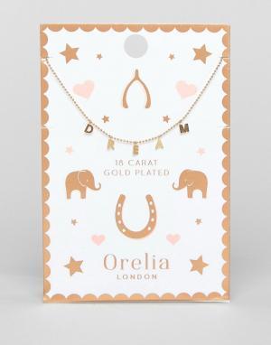 Orelia Ожерелье с подвеской Dream. Цвет: золотой