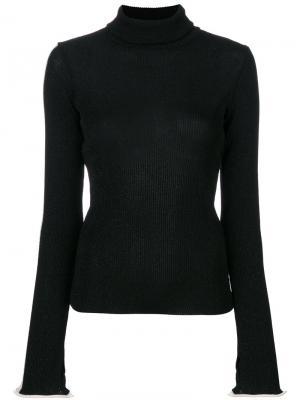 Ribbed roll neck sweater Ssheena. Цвет: чёрный