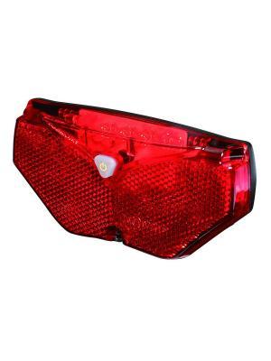 Лампа с 5 красными светодиодами и отражателем дл велосипедного багажника D-light. Цвет: черный
